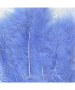 Veren Marabou Licht Blauw 8,5-12,5cm 15st
