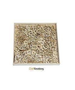 Houten ornamenten Alfabet Groot 250 stuks