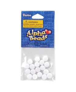 Blank beads x18 white