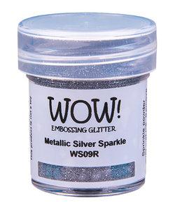 Wow Embossing Powder Metallic Silver Sparkle 15ml