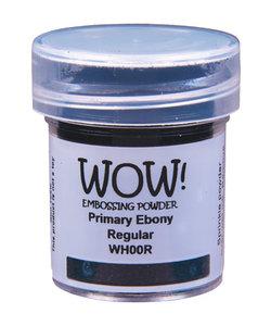 Wow Embossing Powder Primary Ebony Regular 15ml