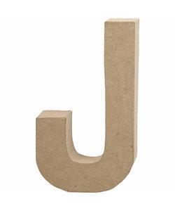 Papier Mache Letter J 2,5x11,8x20,5cm
