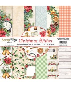 ScrapBoys Christmas Wishes 30,5x30,5cm  12 double faced sheets