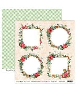 ScrapBoys Achtergrond Papier Christmas Wishes 30,5x30,5cm  nr. 05