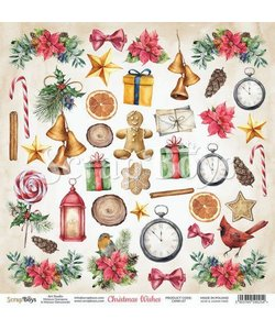 ScrapBoys Knipvel Christmas Wishes 30,5x30,5cm  nr. 07