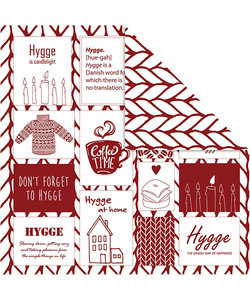 Vivi Gade Design papier Breiwol tekst, 5 vel