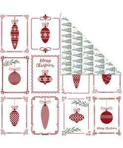Vivi Gade Design papier Kerstballen bomen, 5 vel