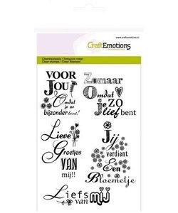 Craftemotions Clear Stamp Handletter Groetjes