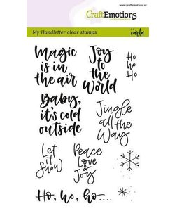 Craftemotions Clear Stamp Handletter Tekst Kerst
