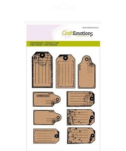 Craftemotions Clear stamp Kraft labels