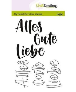 Craftemotions Clear Stamp Handletter Alles Gute