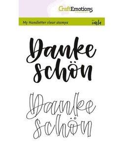 Craftemotions Clear Stamp Handletter Danke Schon