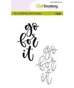 Craftemotions Clear Stamp Handletter Go For It