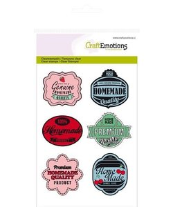 Craftemotions Clear Stamp Kitchen Labels