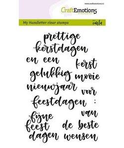 Craftemotion Handletter cl. stamp Kerst