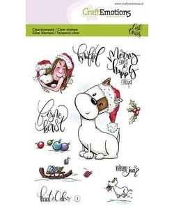 Craftemotions cl. Stamp Carla Creatief Kaat & Odey 1