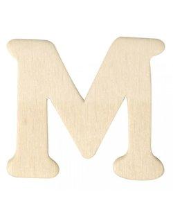Houten Letter M 0,3x4cm