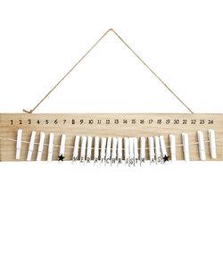 Houten Plank met wasknijpers