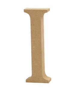 MDF letter/teken, 13 cm. letter I