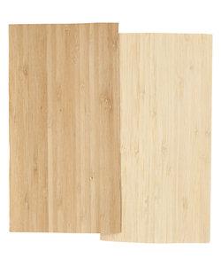 Bamboe fineer, vel 12x22 cm dikte 0,75 mm 2 vel