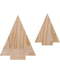 Pronty Crafts Deco Wood Bomen 350x280mm / 250x200mm  d:18mm