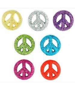 Dress it Up button glittered peace