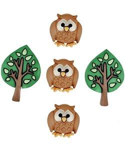Dress it Up button Night owls