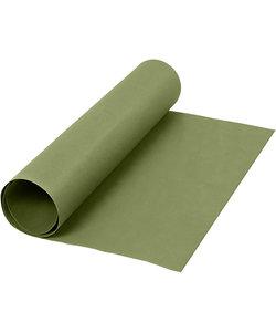 Faux Leather Papier, unikleurig Groen, B: 50 cm, 350 gr, 1 m.