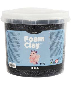 Foam Clay, Glitter, 560 gr, 1 emmer, Zwart