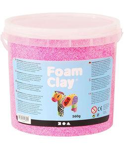 Foam Clay, 560 gr, 1 emmer, Neon Roze