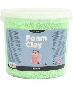 Foam Clay, Glitter, 560 gr, 1 emmer, Groen