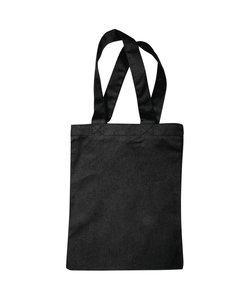 Stoffen tas, katoen onbedrukt, 21x25cm, zwart