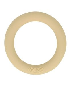 Opry Siliconen Bijtring Rond 5,5cm Beige