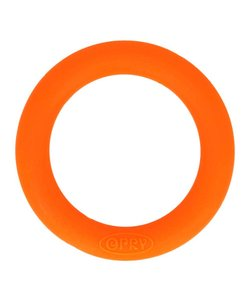 Siliconen Bijtring Rond, 55 mm., oranje