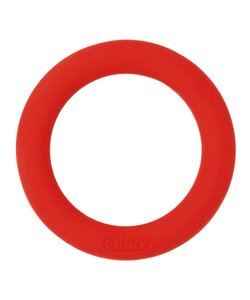 Siliconen Bijtring Rond, 55 mm., rood
