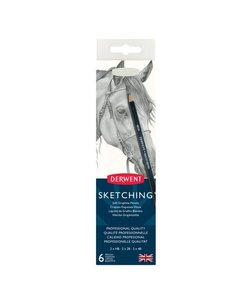 Derwent Sketching Graphite Pencils 6st HB-2B-4B