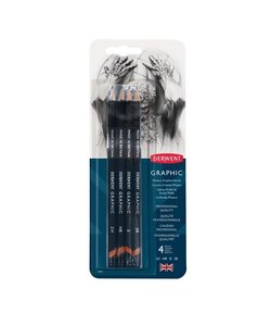 Derwent Graphic Pencils Medium 4st 2H-HB-2B-2B