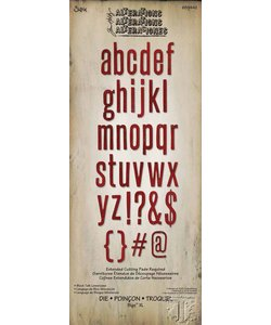 Sizzix Bigz Die Tim Holtz XL Alphabet Block Talk
