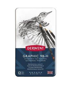 Derwent Graphic Soft Pencils Set 12st 9B-H