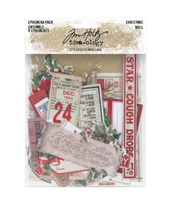 Tim Holtz Idea-Ology Ephemera Christmas Snippets57 pcs.