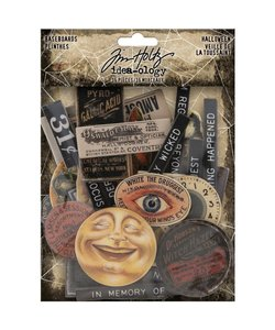 Tim Holtz Idea-Ology Baseboards Halloween 36 pcs.