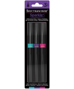 Spectrum Noir Sparkle Glitter Brush Pens Set Glitz