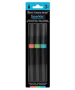 Spectrum Noir Sparkle Glitter Brush Pens Set Summ