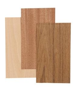 Bamboe fineer, vel 12x22 cm dikte 0,75 mm 3 vellen