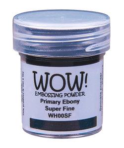 Wow Embossing Powder Primary Ebony Super Fine 15ml