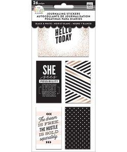 Happy Planner Flip Journaling Stickers Black White