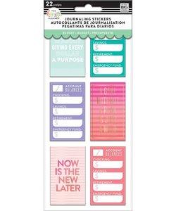Happy Planner Flip Journaling Stickers Budget
