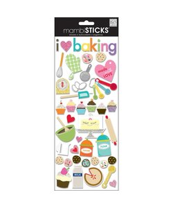 Me & My Big Ideas Chipboard Stickers I Love Baking