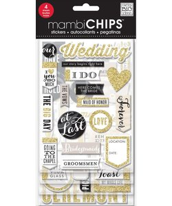 Me & My Big Ideas Chipboard Value Pack Our Wedding