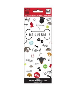 Me & My Big Ideas Stickers Bad to the bone dogs